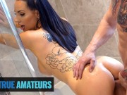 True amateur - Tattooed Babe Jess Has Gets Her Pussy Creampie In Bathroom