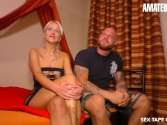 SexTapeGermany - Sandy Fire Horny German MILF Rough Pussy Fuck With Boyfriend On Camera - AMATEUREURO