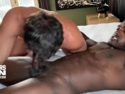 Interracial Bareback Fuck and Ass Breeding with Hung Top