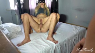 cuckold. the husband was allowed to masturbate while the wife was fucking.