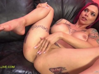 ANNA BELL PEAKS TATTOOED SEX GODDESS with PERFECT PINK PUSSY & MATCHING HAIR EPIC SQUIRTING FUCK FEST! – Part 2