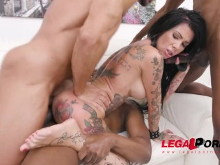 Tattooed slut Megan Inky swallows anal creampies – full the scene on Legalorno