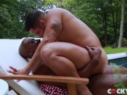 Muscle studs Brock and Max enjoy a steamy hard pounding
