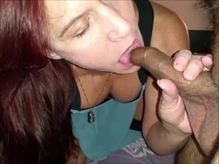 Girlfriend fucks uncut cock