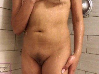 Athletic guy gets fucked in the ass by girl in the shower – He fucks her too