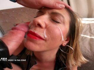 Very hard Blowjob in latex catsuit Miss Ania very Hot