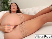 Alison Tyler pounds her wet pussy!