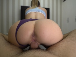 Perfect Girlfriend In Yoga Pants Seduces Me and Begs For Creampie – Please Cum inside Me