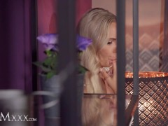 MOMxxx Hot blonde european wife Florane Russell romantic sex and sensual oral leads to passionate creampie