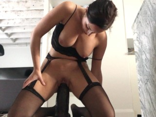 Love to destroy my pussy with huge black dildo!