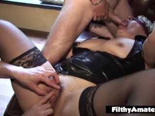 Sandra and Paola in colossal group fuck