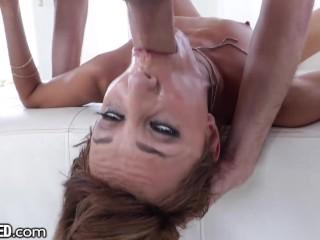Beautiful Latina Deepthroat Big Cock