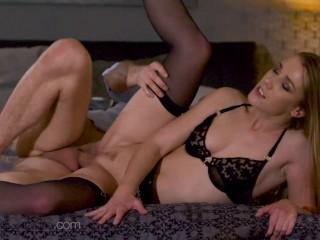 Dane Jones Big cock spunks its load deep inside hot young blonde Czech babe