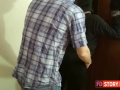 Security guard caught hot babe thief stealing & creampied her pussy after hard rough fuck