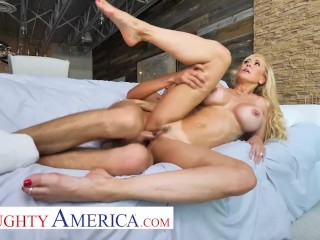Naughty America – Brandi Love can't help the urge for wanting that young cock inside her wet pussy