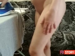 Son join step mom to rub pussy but over horny stick dick to cum inside