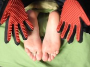 TICKLE TORTURE: Soles and Toes Made to be WRECKED - Destroying Her Oiled Up Feet Wrinkle by Wrinkle
