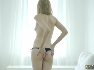 Sophia gets a new toy for herself and fucks her ass till she cums.
