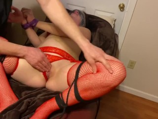 Teasing and Torturing my Pussy Bondage with Cum on Face