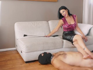Part of the Furniture – Femdom Foot Worship – Young Goddess Kim
