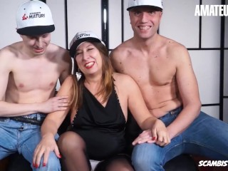 ScambistiMaturi – Veronica Rossi Horny Italian Mature Gets Her Holes Filled By Cocks In Rough Threeway