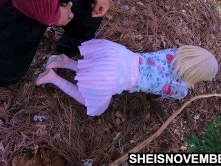4k My Stepdaughter Young Pussy Squirt After Rough Doggystyle On Daddy Big Dick In The Woods Outside, Eating Her Pretty Black