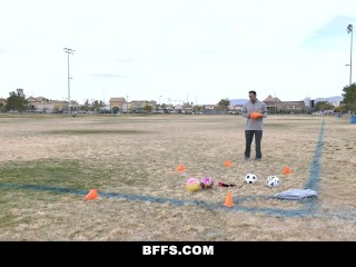 Coach Fucks Three Hot Soccer Babes
