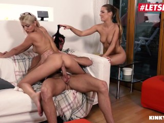 KinkyInlaws - Alexis Crystal & Katy Rose Czech Step Daughters Hardcore Threesome With Older Guy - LETSDOEIT