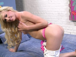Hot Blonde Hooker Victoria White Gets Smashed By Huge Cum Load All Over Her Pretty Face!