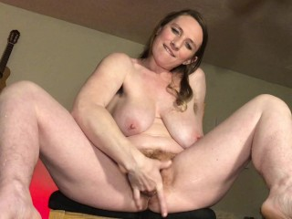 Dirty Talking Flexible Mom Cum Over Chair Legs Shake Squirt Orgasm