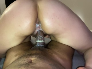 Breaking and entering into her pussy ;)