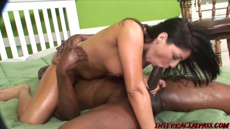 Big Ass Britney Gets Oiled Up and Plowed Down by a BBC
