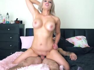 Blonde model filled with cum