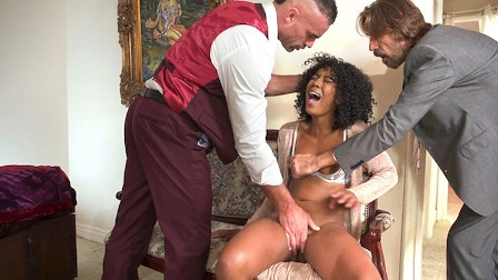 Misty Stone Invites Her Husband s Coworkers To Destroy Her Pussy