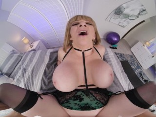VR BANGERS Hot Date With Curvy Blonde In Sexy Lingerie VR Porn