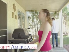 Naughty America - Samantha Reigns thinks that it is time for Brad to lose his virginity and taste those juices