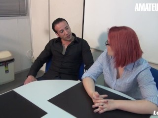 LaNovice – Rose Romane Voluptuous French Newbie Rough Ass Fuck With Coworker