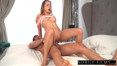 Hot Brunette Seduce BF For A Romantic Fuck