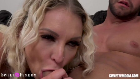Kenzie gives best blowjob to Seth Gamble with a fantasy to empties his balls.