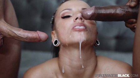 Private Black - Interracial! Busty PAWG Jolee Love Gets Fucked By 2 Dicks!