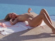 ULTRAFILMS Anjelica is the hottest girl in porn in a stunning striptease and masturbation video by the pool.