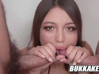 Brunette Latina Camila Tests her Cum Swallow Talents