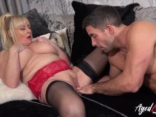 AGEDLOVE Mature managed to seduce horny handy stud