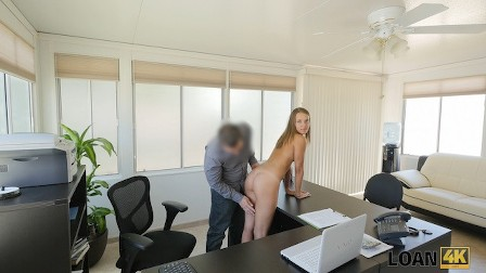 LOAN4K. Tender creature has unexpected dirty sex in the debt office