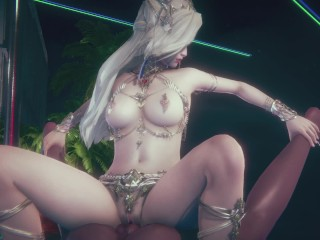 Sexy Queen Fucked by Diablo and Human (Uncensored)