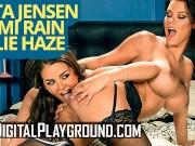 Digital playground - Peta Jensen,Romi Rain, and Allie Haze in porn parody