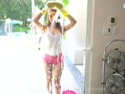 Paige Owens tries to convince her stepbrother to help with chores