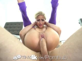 TINY4K Blonde Yoga Student Pounded