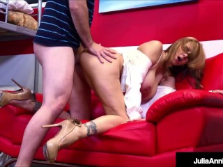 Hot Big Boobed Teacher Julia Ann Gets Her Twat Filled By Her Horny Student!
