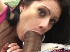 MILF Ginger is eager to swallow some Big Bigger Dick